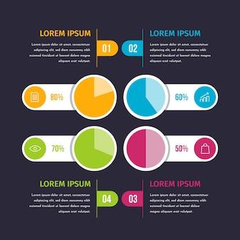 Infográfico de diagramas de bola de harvey de design plano