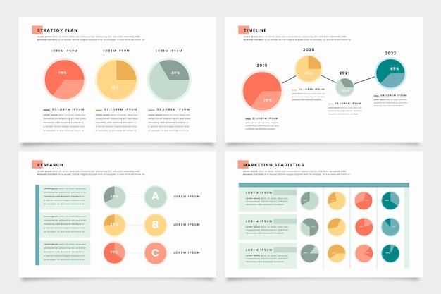 Infográfico de diagramas de bola harvey em design plano