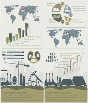 Infográfico de energias renováveis com elementos da ilustração da água do sol vento e terra