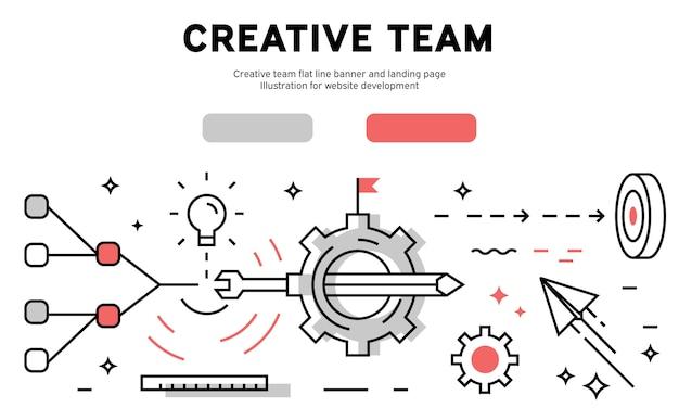 Infográfico de equipe criativa da web