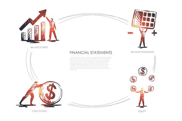 Infográfico de estatísticas financeiras