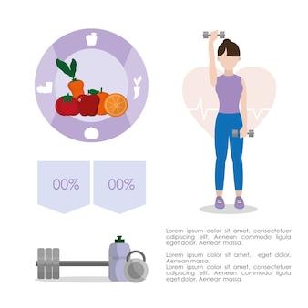 Infográfico de estilo de vida de hábitos saudáveis