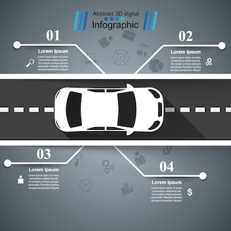 Infográfico de estrada