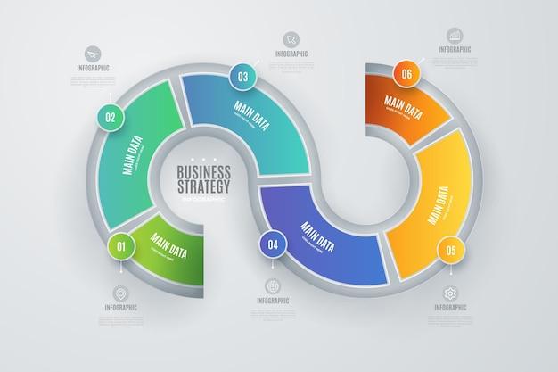 Infográfico de estratégia colorida com detalhes