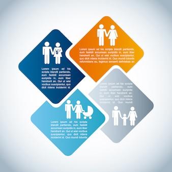 Infográfico de família