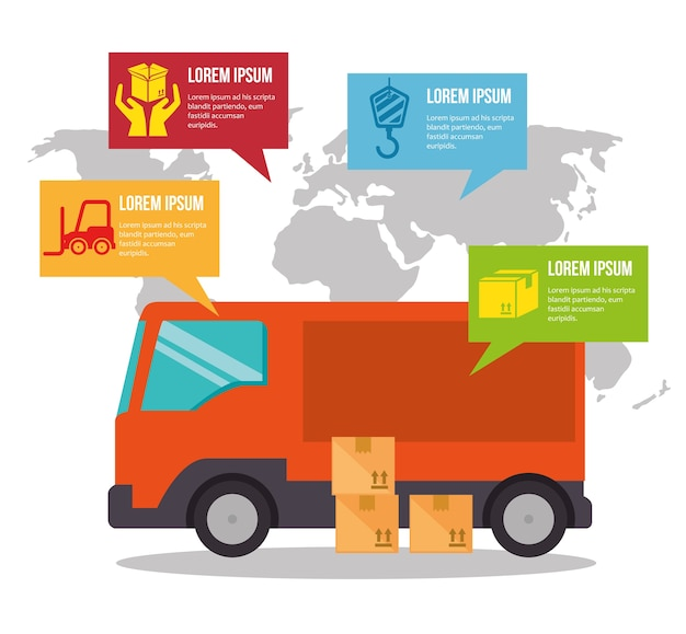 Infográfico de frete grátis de importação