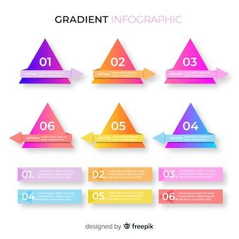 Infográfico de gradiente de negócios