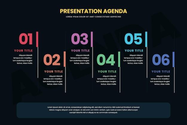 Infográfico de gráfico de agenda