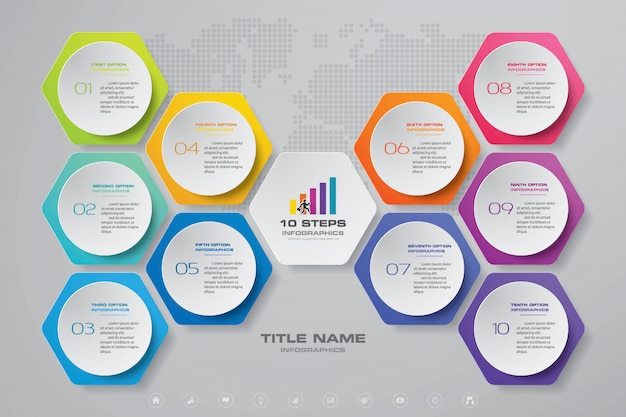 Infográfico de gráfico de apresentação