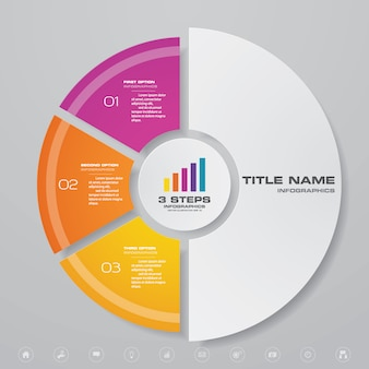 Infográfico de gráfico para apresentação de dados