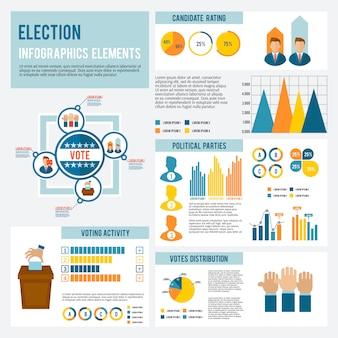 Infográfico de ícone de eleição