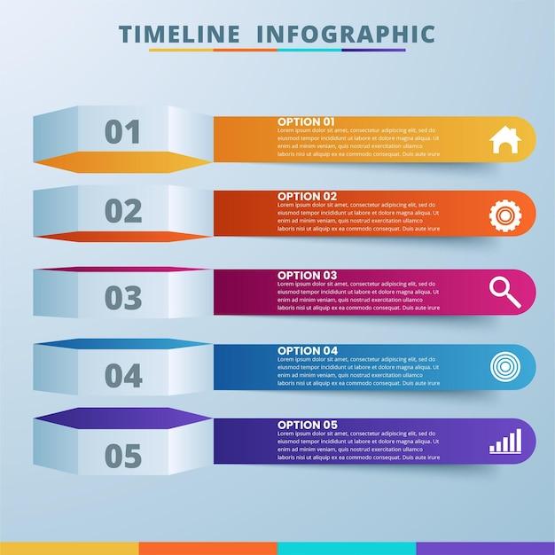 Infográfico de ilustração digital 3d abstrata