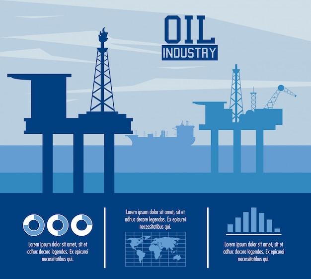 Infográfico de indústria de petróleo
