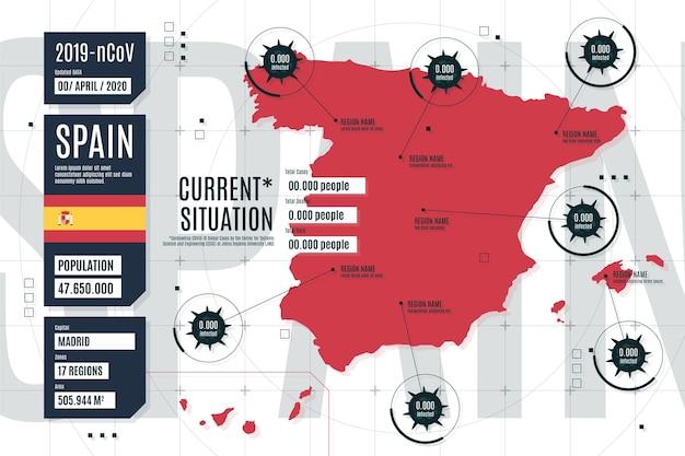 Infográfico de mapa de país de coronavírus china