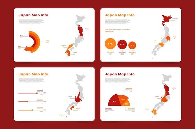 Infográfico de mapa do japão
