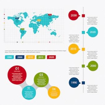 Infográfico de marketing de negócios com quatro etapas