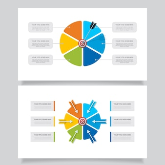 Infográfico de metas coloridas criativas