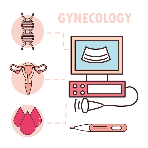 Infográfico de monitor médico de útero