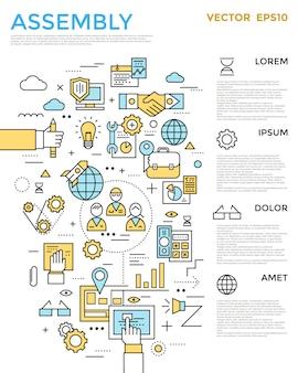 Infográfico de montagem vertical