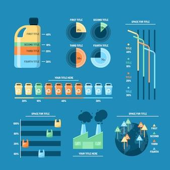 Infográfico de mudança climática de design plano