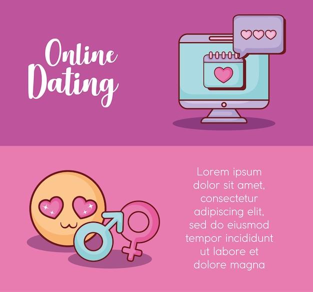 Infográfico de namoro on-line
