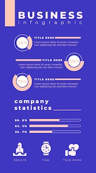 Infográfico de negócios azul