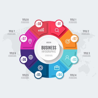 Infográfico de negócios colorido moderno