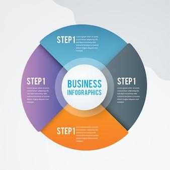 Infográfico de negócios colorido