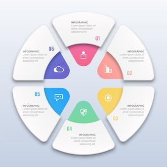 Infográfico de negócios coloridos com opções
