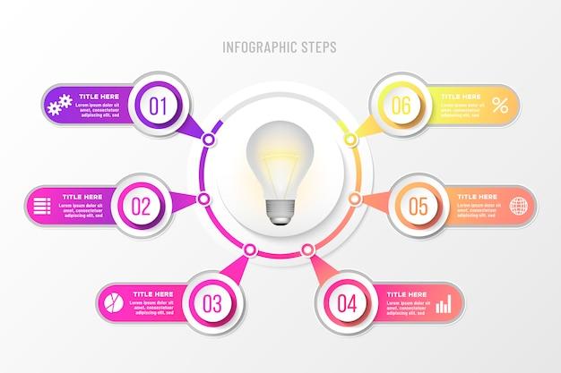 Infográfico de negócios coloridos