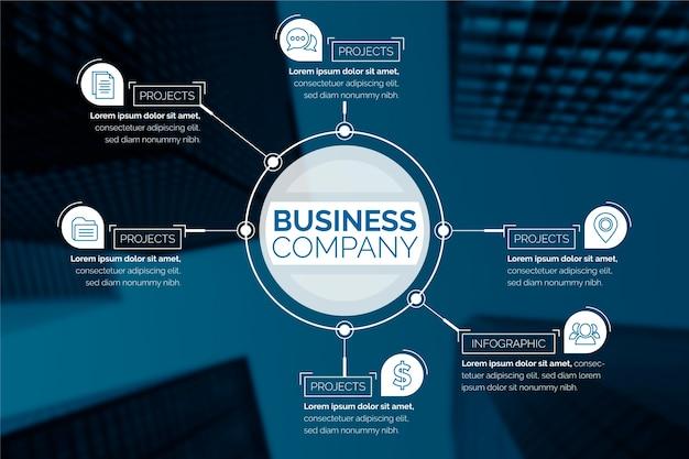 Infográfico de negócios com imagem