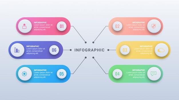 Infográfico de negócios com opções