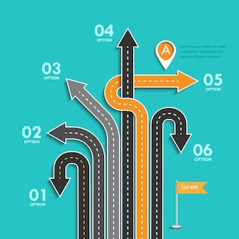 Infográfico de negócios e viagem