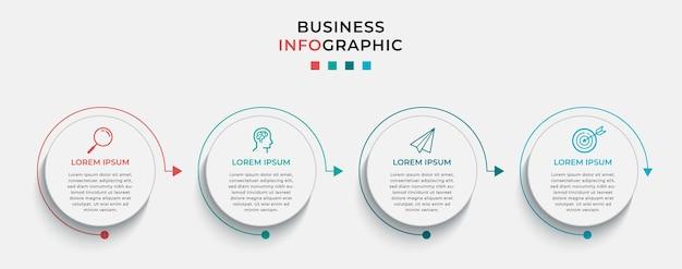 Infográfico de negócios em opções