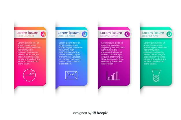 Infográfico de negócios gradiente