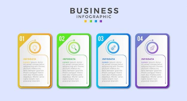 Infográfico de negócios ícone 4 design premium