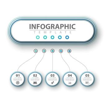 Infográfico de negócios. modelo de papel origami