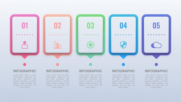 Infográfico de negócios modernos com opções
