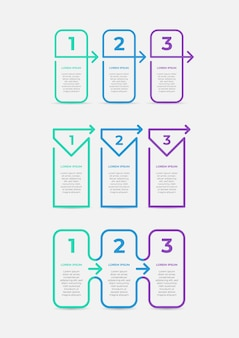Infográfico de negócios modernos linha fina com seta