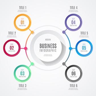 Infográfico de negócios modernos