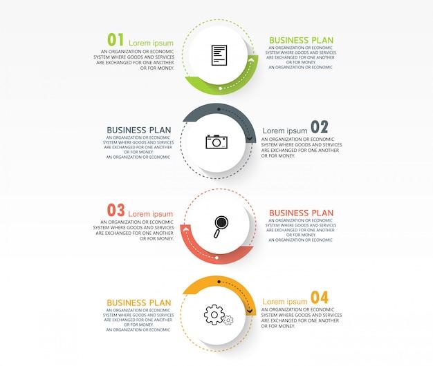 Infográfico de negócios pode ser usado para o processo de apresentações, layouts, banners, gráficos de dados em estudos de negócios.