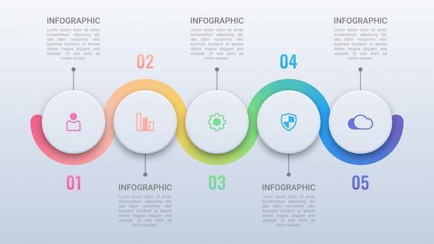 Infográfico de negócios simples com opções