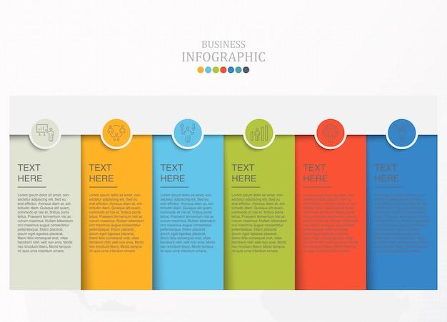 Infográfico de papel e ícones para o conceito de negócio.