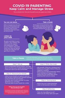 Infográfico de parentalidade saudável
