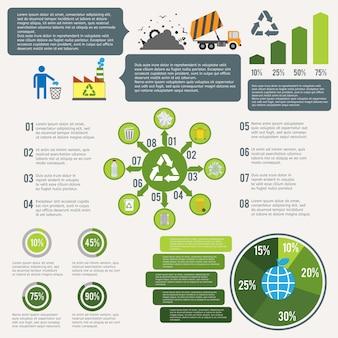 Infográfico de reciclagem de lixo