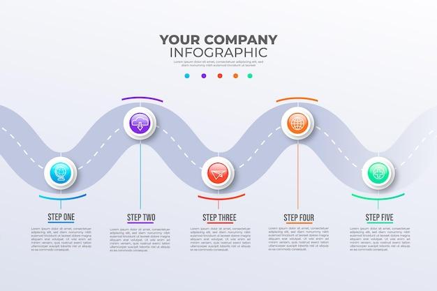 Infográfico de roteiro de gradiente