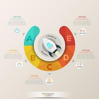 Infográfico de setas do círculo