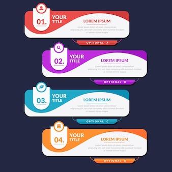 Infográfico de sumário plano
