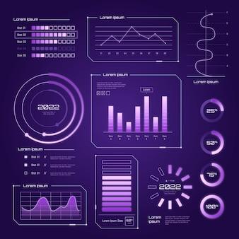 Infográfico de tecnologia futurista
