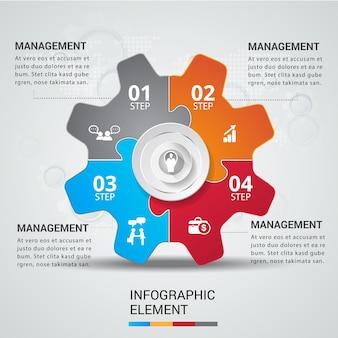 Infográfico de trabalho em equipe do conceito de quebra-cabeça.
